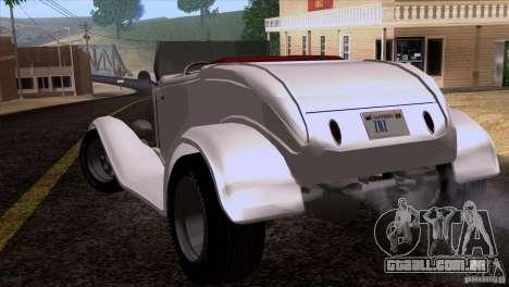 Ford Roadster 1932 para vista lateral GTA San Andreas
