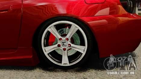 Honda S2000 para GTA 4 vista de volta