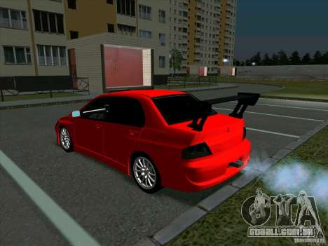 Mitsubishi Lancer Drift para GTA San Andreas vista direita