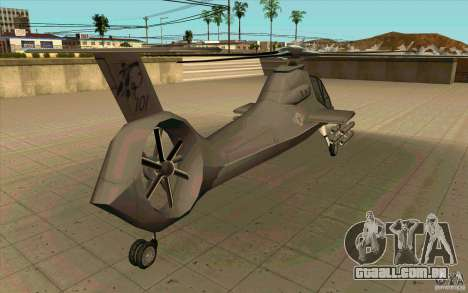 Sikorsky RAH-66 Comanche default grey para GTA San Andreas vista traseira