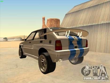 Lancia Integrale Evo para GTA San Andreas esquerda vista