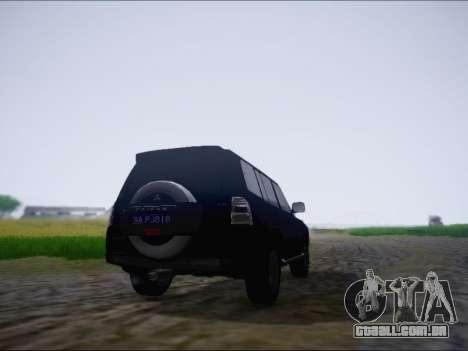 Mitsubishi Pajero 2012 para GTA San Andreas vista direita