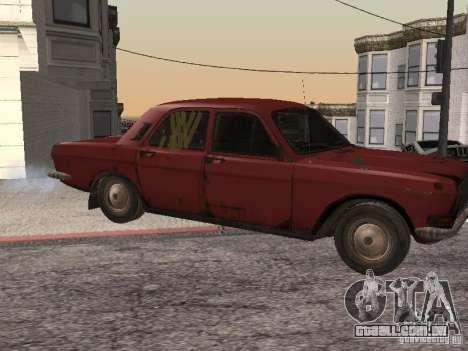 Volga Gaz M24-Rusty morte para GTA San Andreas esquerda vista
