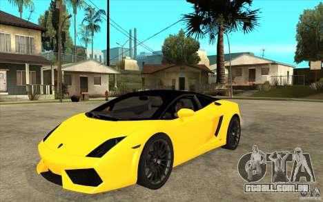 Lamborghini Gallardo LP560 Bicolore para GTA San Andreas