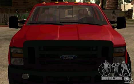 Ford F250 Super Dute para GTA San Andreas vista direita