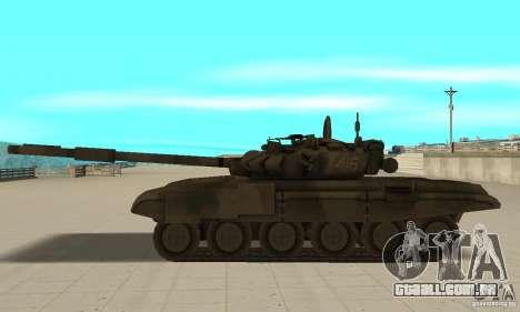 Tanque t-90 para GTA San Andreas esquerda vista
