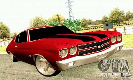 Chevrolet Chevelle 1970 para GTA San Andreas vista interior