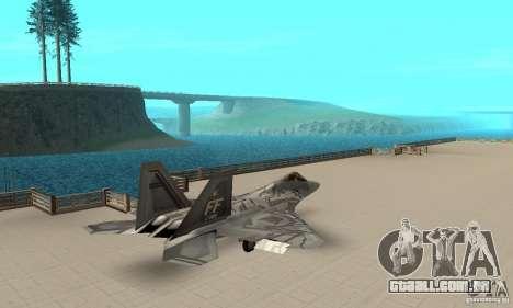 F-22 Starscream para GTA San Andreas traseira esquerda vista