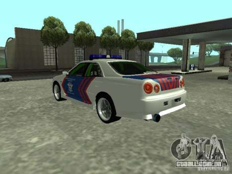 Nissan Skyline Indonesia Police para GTA San Andreas esquerda vista