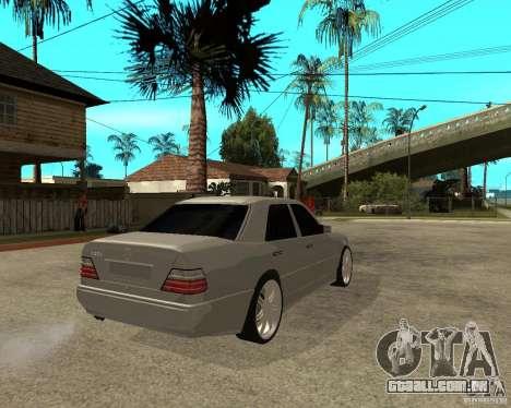 Mercedes-Benz W124 E500 95 para GTA San Andreas traseira esquerda vista