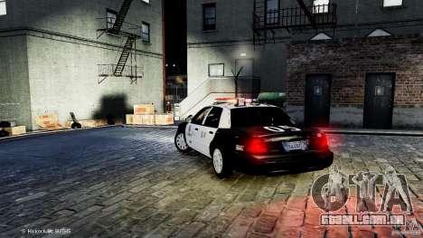Ford Crown Victoria CVPI-K9 V6.9A-LAPD-ELS para GTA 4 traseira esquerda vista