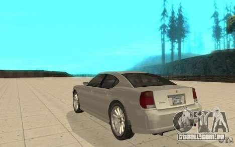 FIB Buffalo no GTA 4 para GTA San Andreas traseira esquerda vista