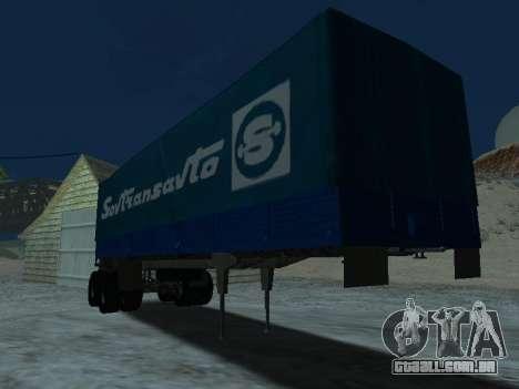 Trailer de Kamaz 5410 para GTA San Andreas vista traseira
