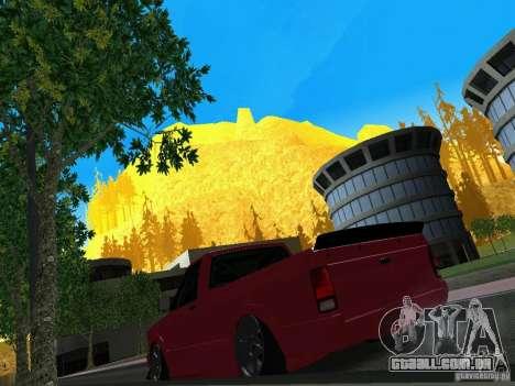 GMC Syclone Drift para GTA San Andreas vista traseira