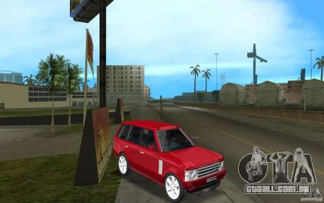 Range Rover Vogue 2003 para GTA Vice City vista traseira