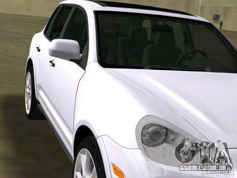 Porsche Cayenne Turbo S para GTA Vice City vista traseira