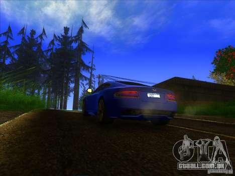Aston Martin Virage 2011 Final para GTA San Andreas vista traseira