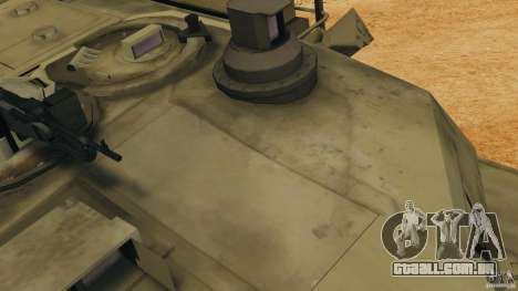 M1A2 Abrams para GTA 4 vista superior