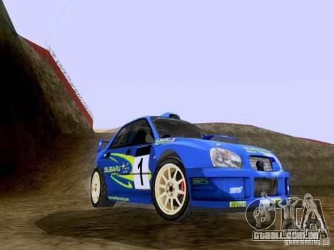 Subaru Impreza WRC 2003 para GTA San Andreas esquerda vista