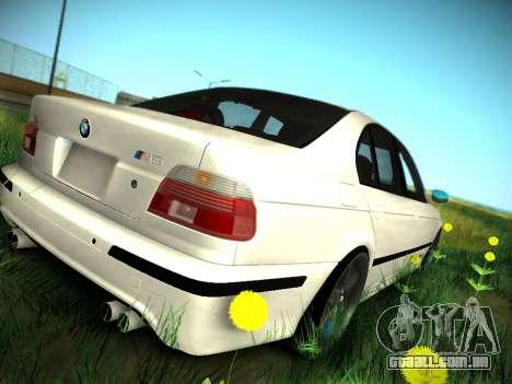 BMW M5 E39 para vista lateral GTA San Andreas