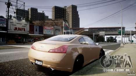 Infiniti G37 Coupe Sport para GTA 4 esquerda vista