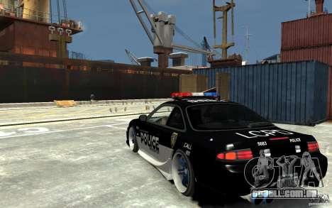 Nissan 200SX Police v0.2 para GTA 4 traseira esquerda vista
