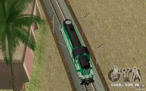 BURINGTON NORTHERN RS3 para GTA San Andreas interior
