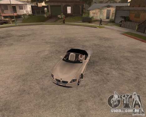 BMW Z4 para GTA San Andreas vista interior