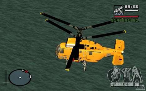 KA-27 N para GTA San Andreas esquerda vista