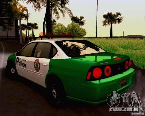 Chevrolet Impala 2003 VCPD police para GTA San Andreas esquerda vista