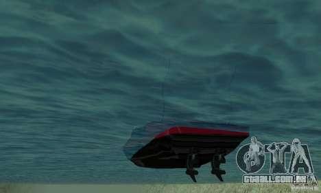 GTAIV TBOGT Smuggler para GTA San Andreas vista traseira