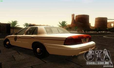 Ford Crown Victoria North Dakota Police para GTA San Andreas esquerda vista