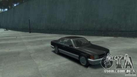 Mercedes-Benz w126 560SEC para GTA 4 vista direita