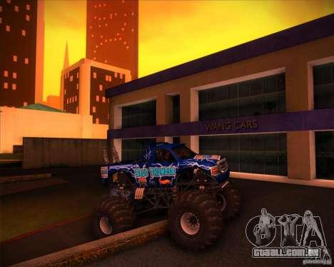 Monster Truck Blue Thunder para GTA San Andreas vista superior