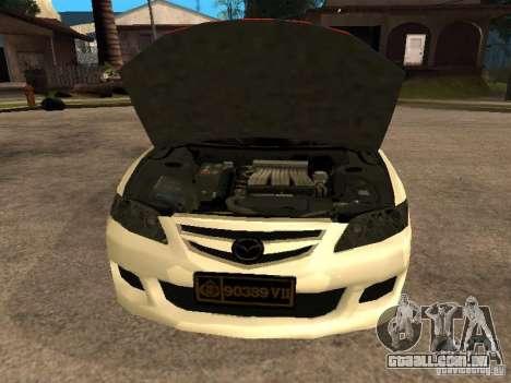 Mazda 6 Police Indonesia para GTA San Andreas vista direita