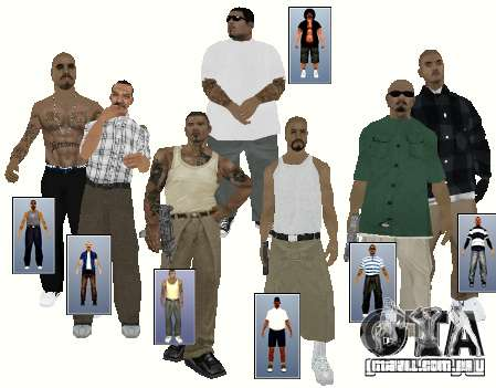 V 0.2 peles PCH civil para GTA San Andreas