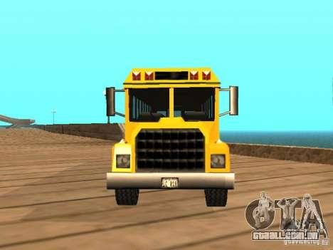 School bus para GTA San Andreas vista direita