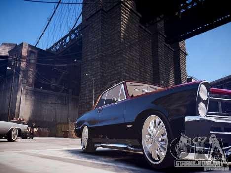 Pontiac GTO 1965 Custom discks pack 1 para GTA 4 traseira esquerda vista