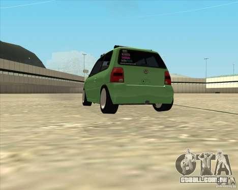 Volkswagen Lupo Hellaflush para GTA San Andreas traseira esquerda vista