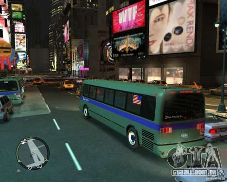MTA NYC bus para GTA 4 esquerda vista