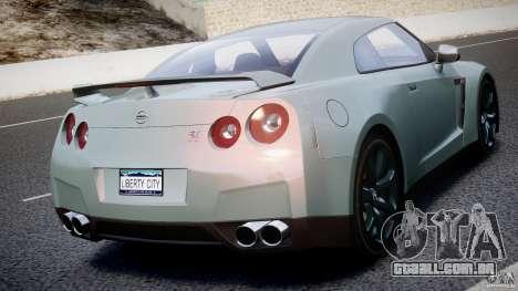 Nissan GT-R R35 2010 v1.3 para GTA 4 interior