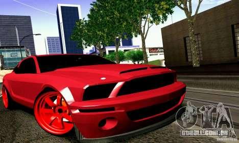 Shelby GT500 KR para GTA San Andreas traseira esquerda vista