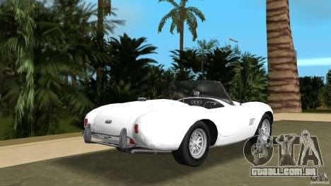 AC Cobra 289 para GTA Vice City vista traseira esquerda