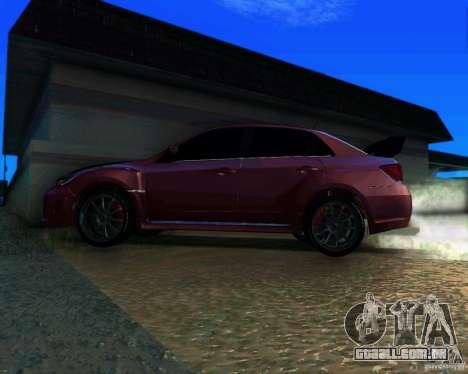 Subaru Impreza WRX STi 2011 para GTA San Andreas traseira esquerda vista