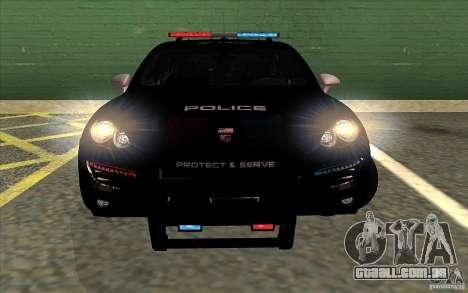 Porsche Cayenne Turbo 958 Seacrest Police para GTA San Andreas traseira esquerda vista