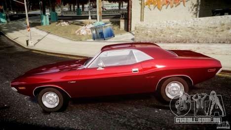 Dodge Challenger 1971 para GTA 4 esquerda vista