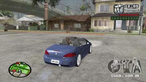 Peugeot 307 BMS Edition para GTA San Andreas traseira esquerda vista
