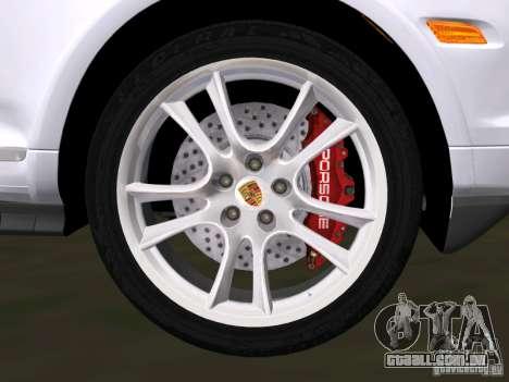Porsche Cayenne Turbo S para GTA Vice City vista interior