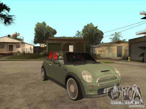 Mini Cooper S Cabrio para GTA San Andreas vista interior