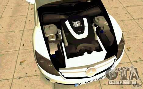 Mercedes Benz CL 500 para GTA San Andreas vista traseira
